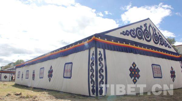 藏博会旅游展示区会徽 摄影:马静