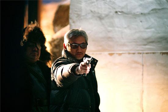 徐克导演在《智取威虎山3D》片场