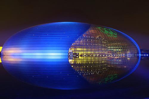 国家大剧院夜景 资料图