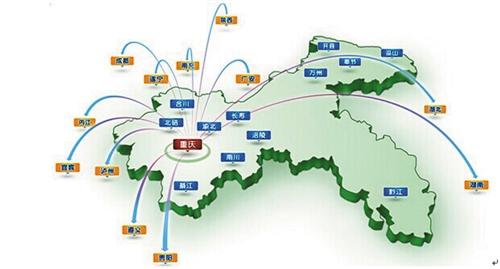 以重庆主城为中心覆盖周边600公里的立体营销网络