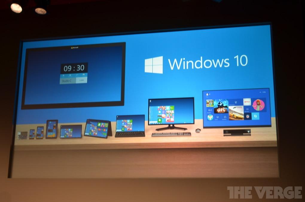 微软发布Windows 10