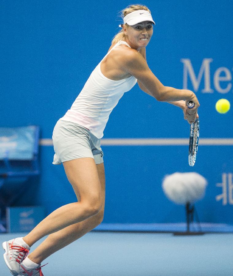 (体育)(17)网球——中网:莎拉波娃晋级半决赛
