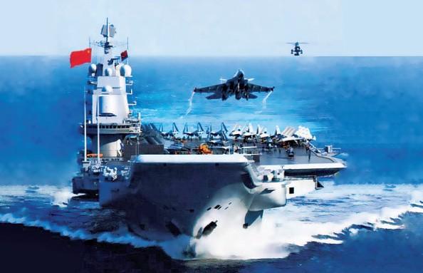 资料图:中国国产航母想象图。