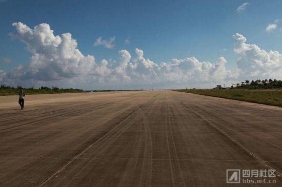 永兴岛机场跑道。