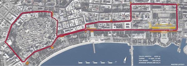 阿塞拜疆街道赛路线图揭晓 拥有两公里长加速路