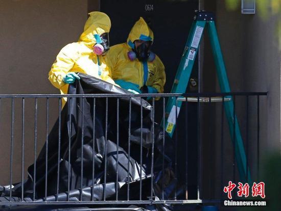 当地时间2014年10月3日,美国达拉斯,美国疾病控制和预防中心证实。美国本土确诊首例埃博拉病毒感染者―42岁的托马斯・埃里克・邓肯。据悉该名病患潜在接触者已达百人。CFP视觉中国