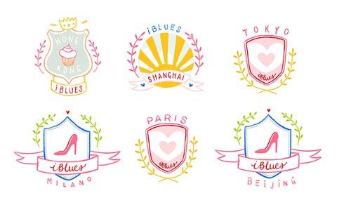iBLUES为六座城市设计的饰章