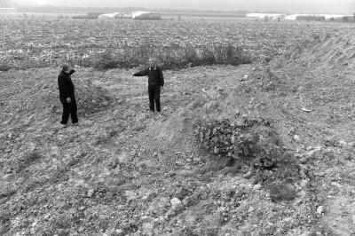 农地被建筑垃圾覆盖。京华时报记者赵思衡摄