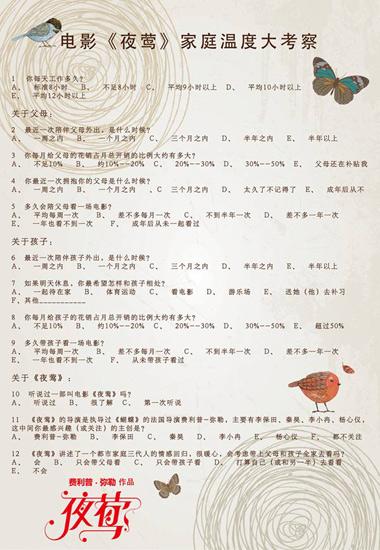 """《凤蝶》发家庭关系夜莺三代人破冰需""""关系""""章青问卷图片"""