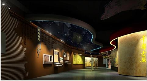 由于考虑到该展馆是一个综合类展馆,没有固定的主题,所以其空间设计的图片