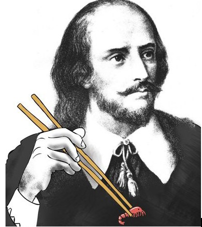 """漫画:整容后的""""中国莎士比亚二世"""""""