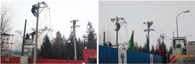 东干渠工程51#排气阀井电力设施完成迁建。