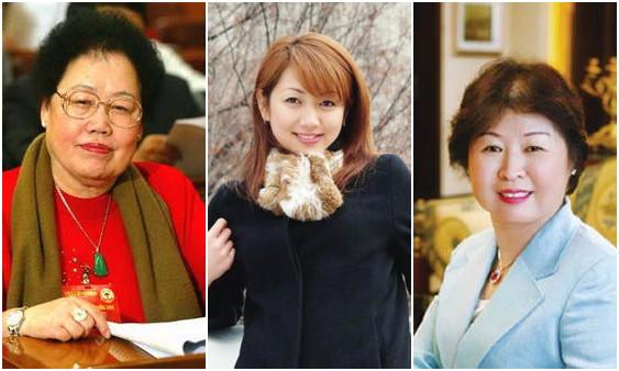 陈丽华(左)、杨惠妍(中)、张茵(右)资料图