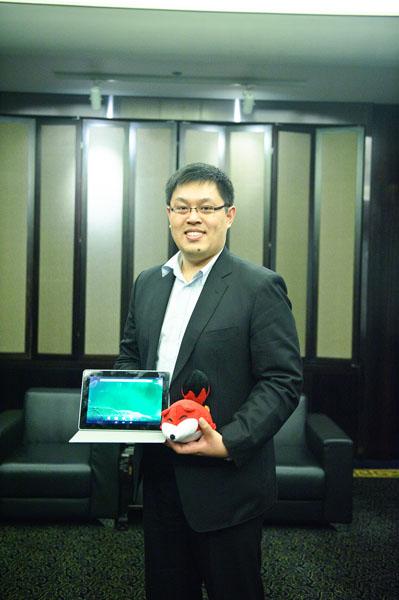 英特尔全球教育方案部总经理陈葆立先生(PeterChen)