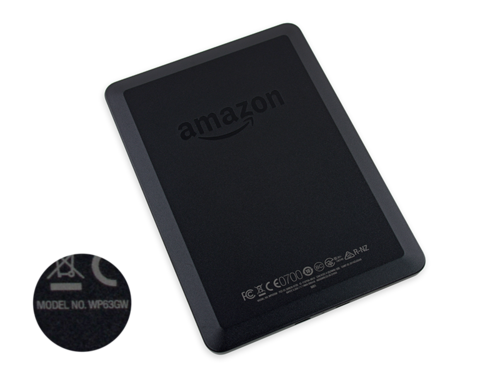 亚马逊第七代Kindle电子书背面,棱角分明(图片来自iFixit)