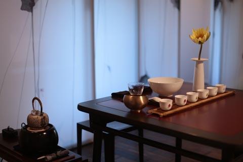 「上下」三楼体验空间-莲花茶席