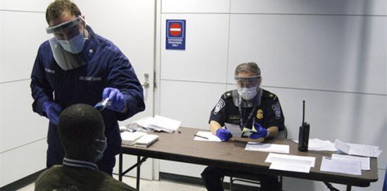 美严密防控埃博拉病毒入境。
