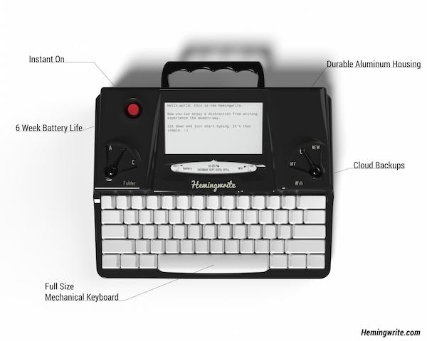 Hemingwrite:打字机界中的 Kindle