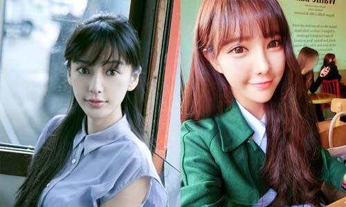 最in韩国刘海教程 放下刘海变身可爱的她图片
