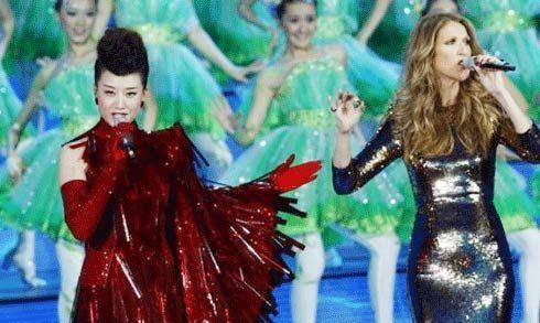 席琳·迪翁和宋祖英两位天后混搭合唱《茉莉花》惊艳四座。
