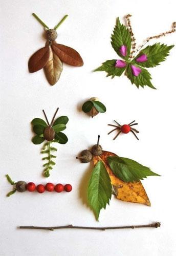 通过在树叶上粘贴金粉,把树叶压平后放入相框等方式,将树叶变成图片