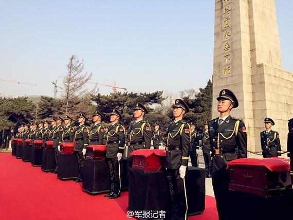 中国志愿军遗骸_中国抗美援朝烈士197653名 首批志愿军遗骸安葬(图)-搜狐滚动
