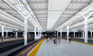 昆明南站_昆明南站工程进度已过半,2016年6月30日投入运营 昆明地铁与高铁 ...