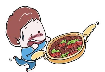 卡通手绘牛肉块
