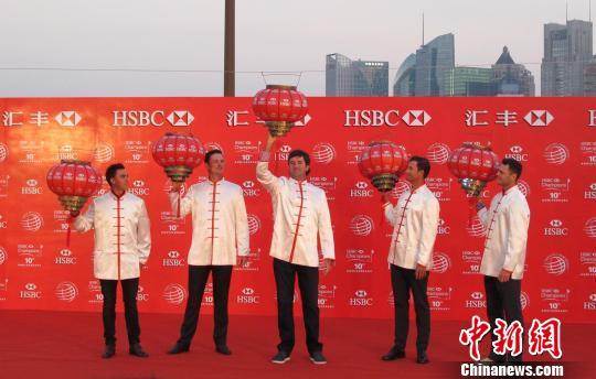 五位世界顶尖高尔夫球手汇聚上海,共贺世锦赛―汇丰冠军赛十周年,并角逐本年度赛事。 姜煜 摄