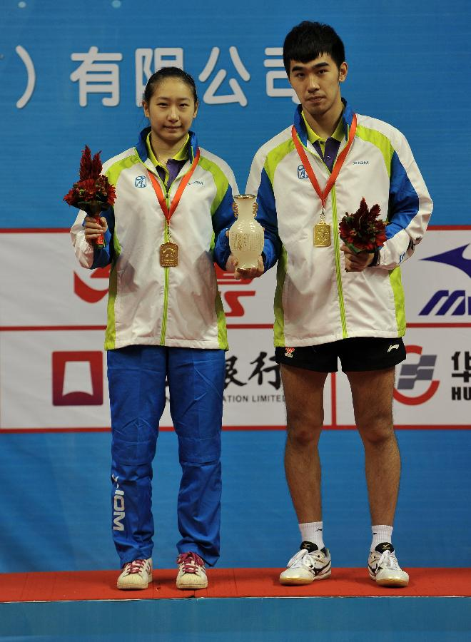 (体育)(1)乒乓球全国锦标赛:闫安/盛丹丹夺得混双龙五横板球拍图片