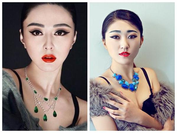 韩国手绘红唇女生