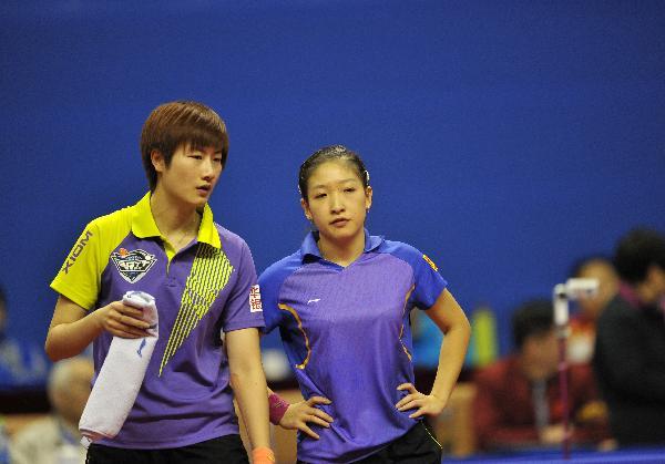 (体育)(7)乒乓球——全国锦标赛:刘诗雯/丁宁夺得女双图片