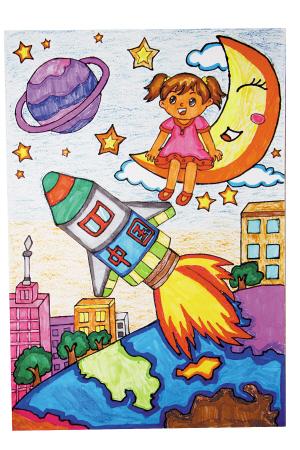 我的航天梦想儿童画