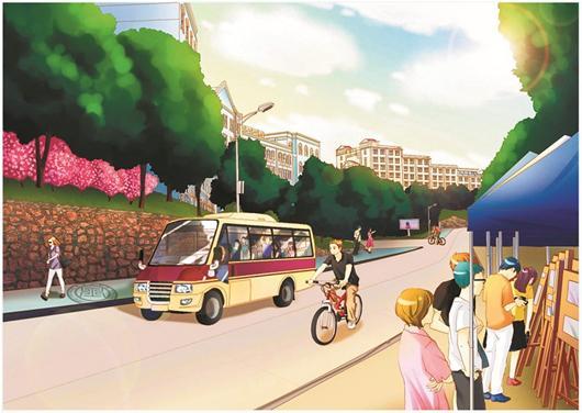 武昌理工学院摄影协会的3名大学生创作出校园系列明信片,以漫画手绘