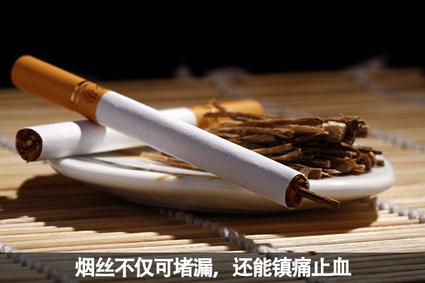 烟丝不仅可堵漏,还能镇痛止血