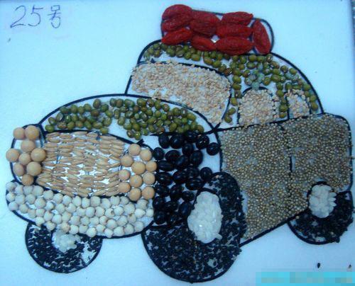 幼儿手工 豆子画的黏贴和详解