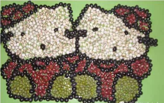 幼儿手工 豆子画的黏贴和详解 还有很多幼儿作品哦!