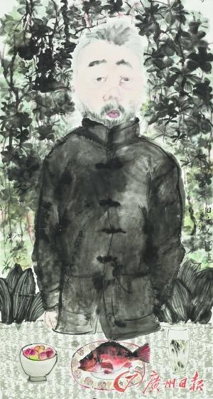 李津 《旧文人图卷》(中国画)
