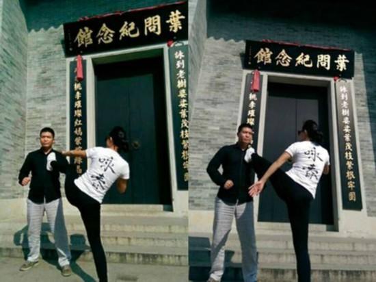 男子叶问故居轻松击败咏春 向甄子丹下挑战书