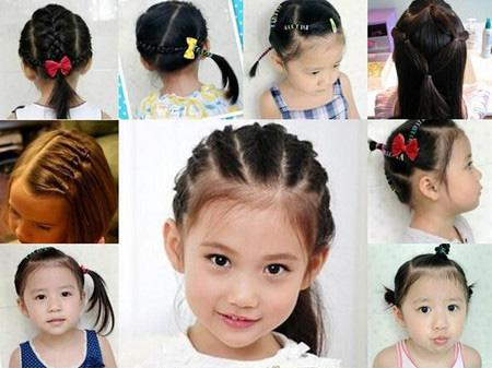 幼儿头型图片女