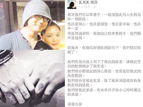日媳妇五月天_五月天玛莎结婚 老婆谢苇怡成网友热搜对象(图)-搜狐滚动