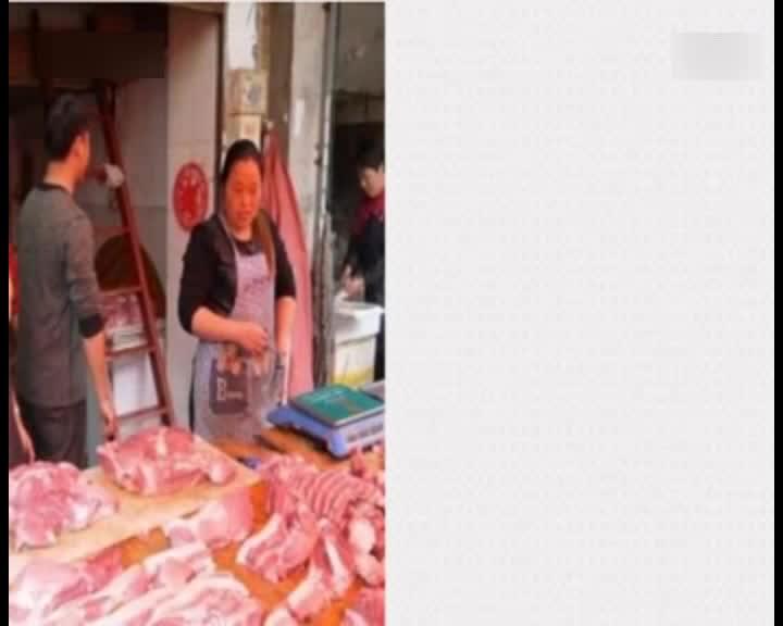 杭州美女卖猪肉获赞猪肉西施