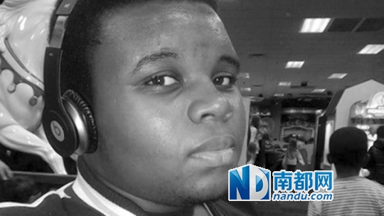 黑人性交视频黑人能看到_被枪杀的黑人青年布朗. 资料图