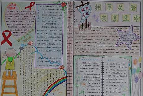 世界艾滋病日手抄报图片集锦:艾滋病日手抄报版面设计
