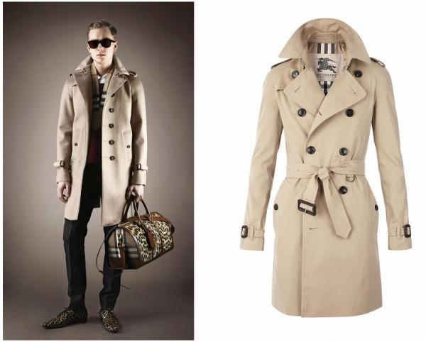 Burberry2013秋冬季男装搭配(左); 男士战壕风衣