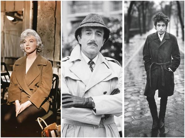 从左至右:玛丽莲·梦露;彼得·塞勒斯;鲍勃·迪伦