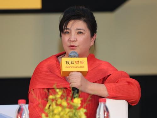 图:摩天轮文化传媒有限公司总经理、北京京西文化旅游股份有限公司副总裁杜扬在2014搜狐财经变革力峰会上发言