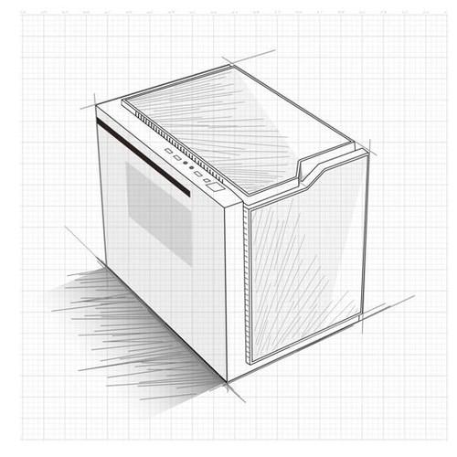 """但从本次从大水牛的设计草稿可以看出,全新的概念机箱,突破了""""传统""""机"""