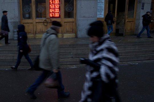 美媒:俄罗斯经济将陷入衰退 普京面临新挑战(图)