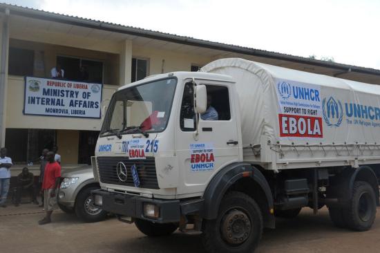 图为联合国利比里亚特派团。